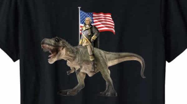 george washington t-rex t-shirt