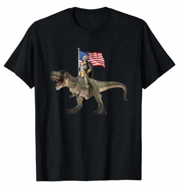 george washington t-rex t-shirt