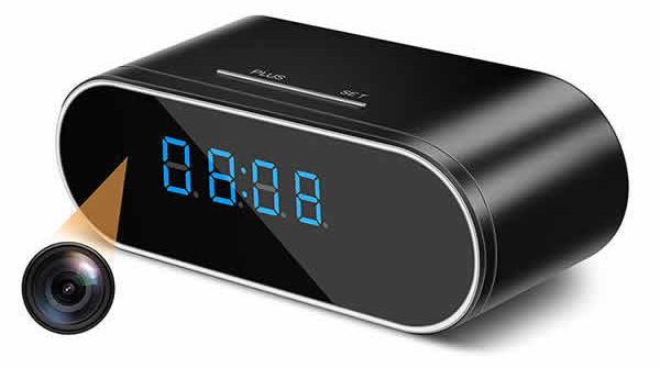 hidden spy cam digital clock