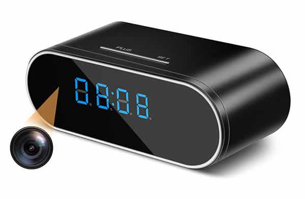 hidden spy cam digital clock