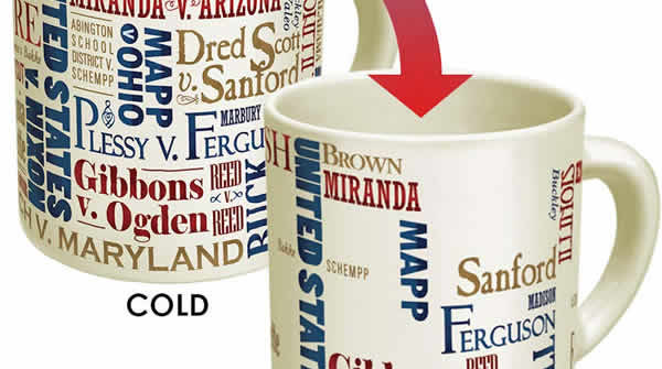 mug shows supreme court winners and losers losers disappear with hot coffee heat changing coffee mug
