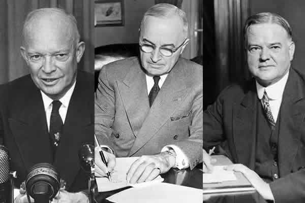 hoover truman eisenhower three presidents