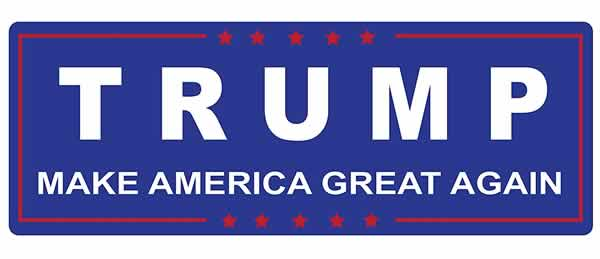 trump maga bumper sticker