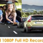 vantrue full HD dash cam front and rear cameras