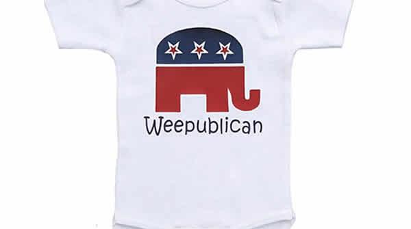 republican baby onesie weepublican