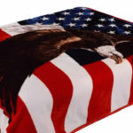 fleece american flag eagle blanket