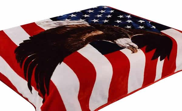 fleece american flag eagle blanket