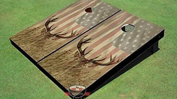 american flag deer hunting cornhole
