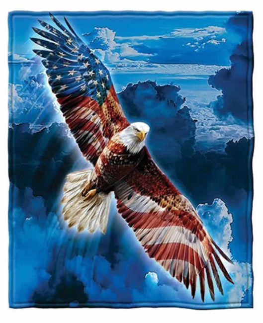 bald eagle stars and stripes blanket