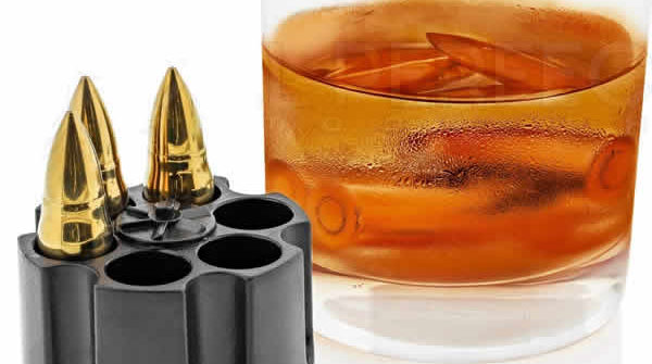 steel bullet reusable ice cubes unique gift for gun lovers