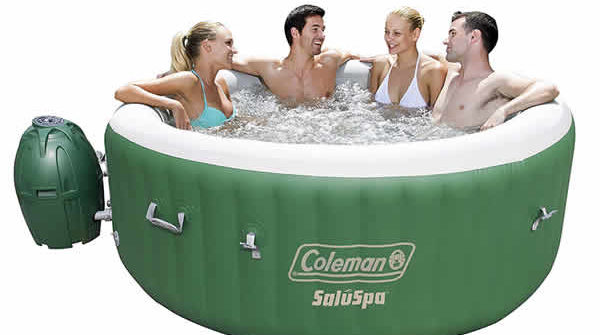 coleman inflatable hot tub