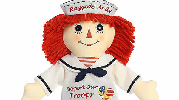 raggedy andy support our troops doll