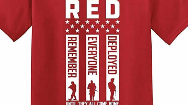 RED Remember Everyone Deployed tshirt support our troops