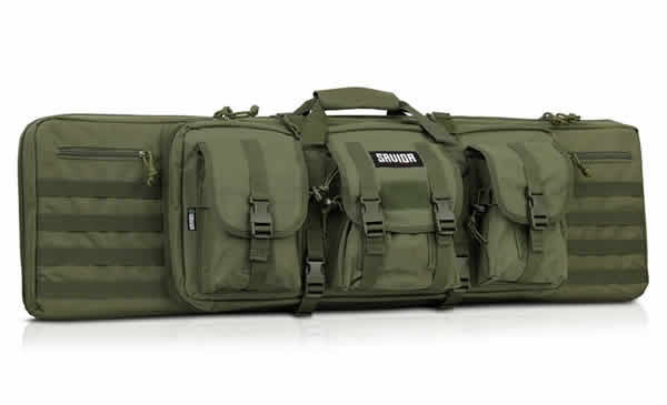 Savior Equipment American Classic Tactical Double Long Rifle Pistol Gun Bag Firearm Transportation Case w/Backpack