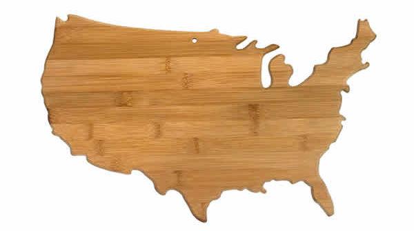 usa bamboo cutting board unique gift